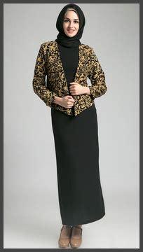 Dress Batik Dbk 05 Hitam model baju batik muslim terbaru lengkap dengan gambar