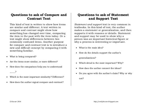 Or Questions Text Text Structure Questions