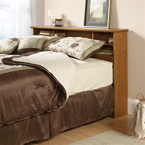 queen bed with bookcase headboard orchard hills full queen bookcase headboard 401294