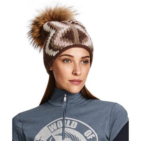 bogner ophelya womens designer ski hat fur pompom hat