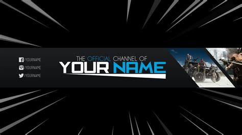 Free Banner Template For Youtube Channel 14 Photoshop I Download 2017 2018 Youtube Banner Template 2018