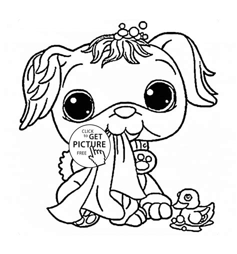 dog coloring pages you can print littlest pet shop funny dog coloring page for kids animal