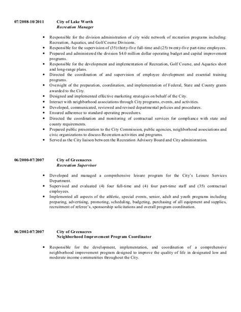 Recreation Specialist Cover Letter by Recreation Resume Resume Ideas