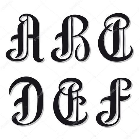 lettere dell alfabeto stilizzate lettere dell alfabeto a b c d e f serif caratteri