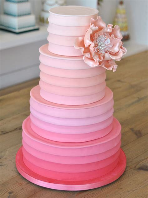 Hochzeitstorte Ombre by Two Cheeky Monkeys Things I Ombre Wedding Cakes