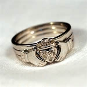 Stackable claddagh ring celtic stacking rings claddagh stack ring