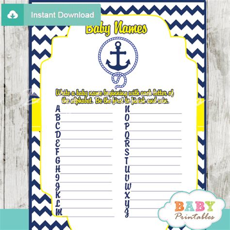 Nautical Home Decorations navy amp yellow nautical anchor baby shower games d197