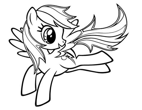 rainbow dash dress coloring page color my little pony