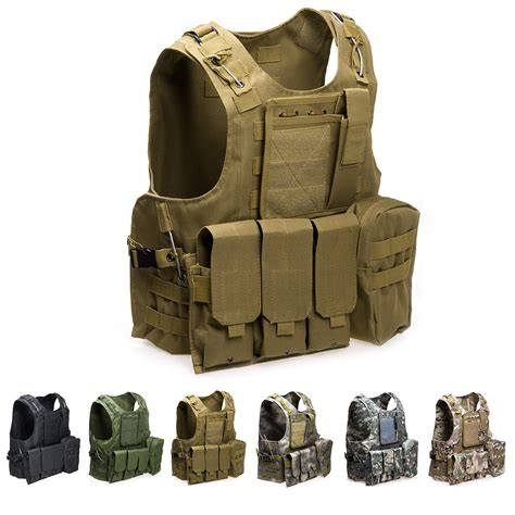 tactical vest for usmc airsoft tactical molle combat assault plate
