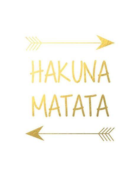 Hakuna Matata Home Screen Wallpaper Quotes Iphone hakuna matata disney king poster black gold wall nursery print decor room