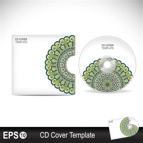 cd sleeve design template cd cover design vector free