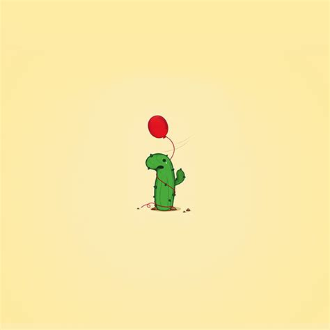 cute wallpaper retina freeios7 ai35 cute cactus ballon illust art minimal