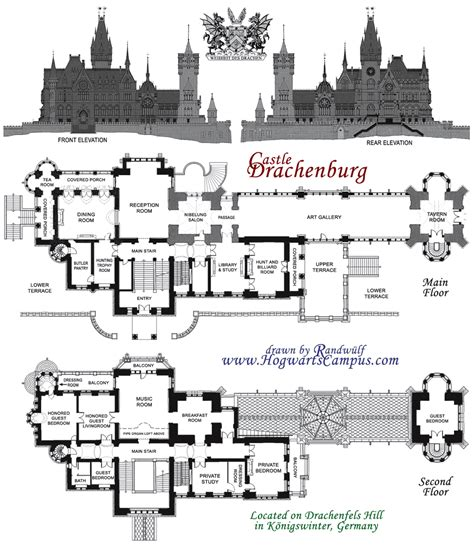 drachenburg castle floor plan minecraft pinterest
