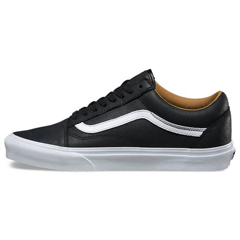 Vans Oldskool White Premium vans skool premium leather shoe black true white billion creation streetwear