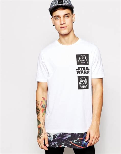design hoodie jakarta image 1 of asos super longline t shirt with star wars cut