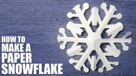 How Do I Make A Snowflake Out Of Paper - how to make a paper snowflake