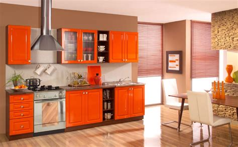 orange kitchen cabinets 40 colorful kitchen cabinets to add a spark to your home