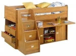 lit mezzanine avec bureau coulissant images