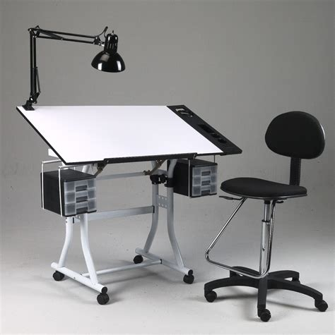 Artist Desks In Drawing Hobby Craft Table Desk W Drawers