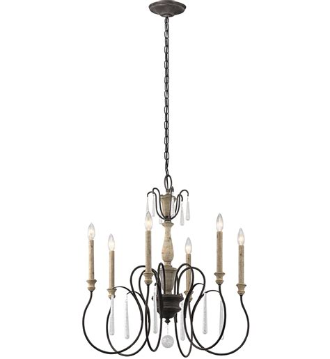 Kichler 6 Light Chandelier Kichler 43617wzc Kimblewick Weathered Zinc 26 Inch 6 Light Chandelier Ls