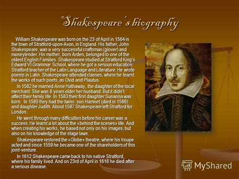 biography of william shakespeare biography of william shakespeare and his works used cars