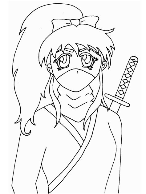 ninja outline coloring page ninja coloring pages bestofcoloring com