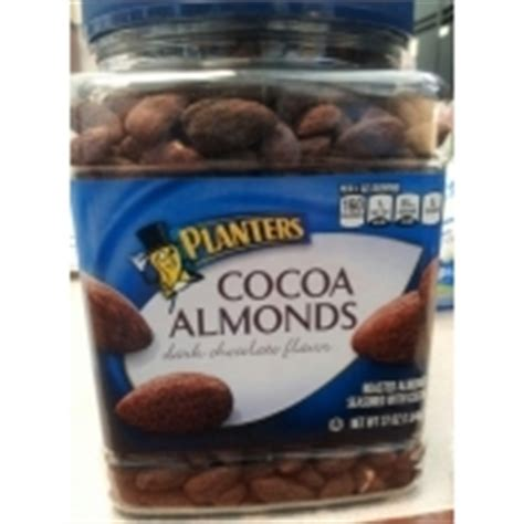 Cocoa Almonds Planters by Planters Chocolate Flavor Cocoa Almonds Calories