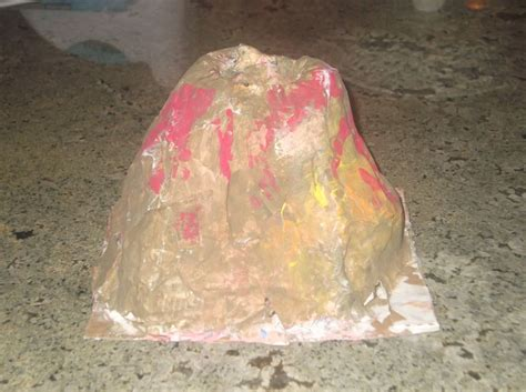 A Volcano Out Of Paper Mache - how to make a paper mache volcano