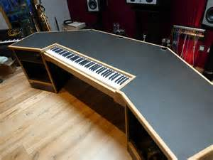 how to make a studio desk doepfer keyboard in custom studio desk studioracks