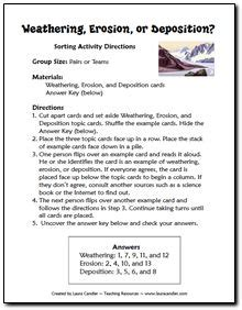 Weathering Erosion And Deposition Worksheet by Printables Weathering Erosion And Deposition Worksheets