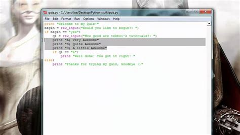 python tutorial questions how to make a quiz in python for beginners part 1