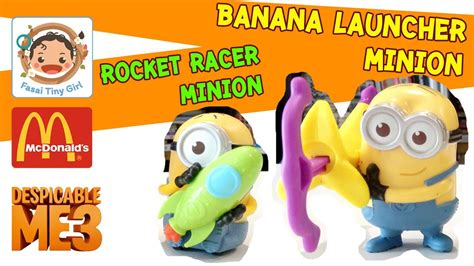Minion Rocket Racer ร ว วของเล นแมคโดน ลด ep6 ม นเน ยน ภาค 3 rocket racer and banana launcher fasai tiny