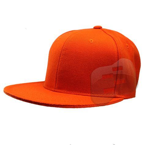 fitted baseball cap flat bill plain solid canvas mens