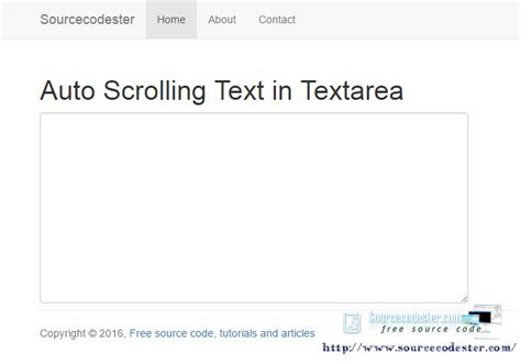 div auto scroll auto scrolling text in textarea free source code