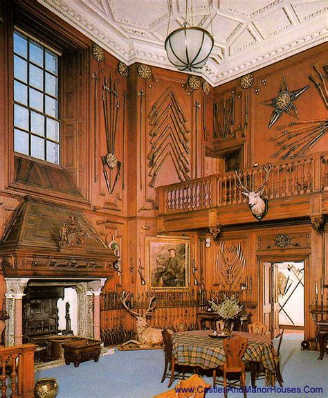 Scottish Baronial Style Interiors by Entrance Blair Castle Blair Atholl Perthshire