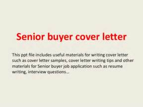 senior buyer cover letter