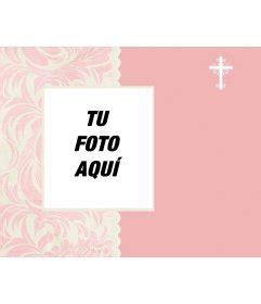imagenes de poema para bautismo para nena invitaci 243 n para bautizo con foto de color rosa con una