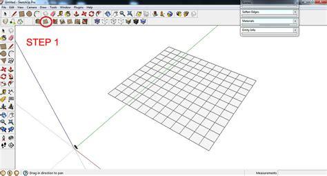 sketchup layout grid lines topographical landscapes hills sketchup 3d rendering