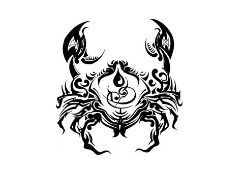 zodiac sign cancer tattoos designs 14 awesome tribal cancer tattoos only tribal