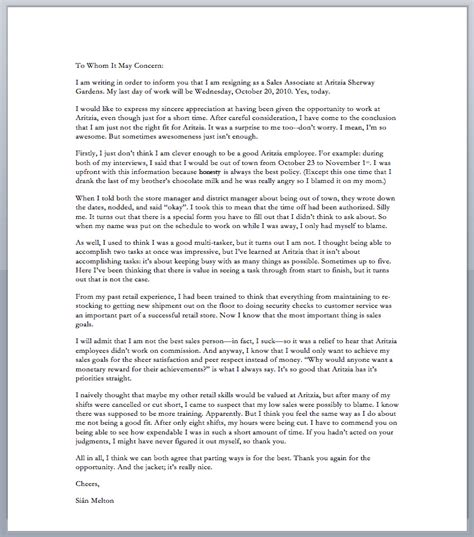 Best Resignation Letter Of All Time A With A Greatest Resignation Letter Of All Time
