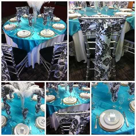 decorations for a banquet with turquoise black and white email this blogthis to