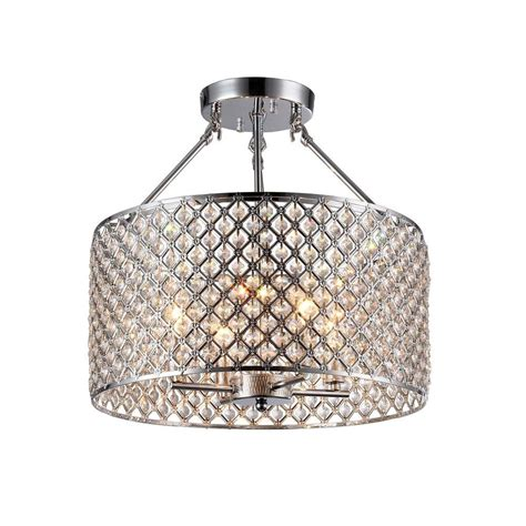 kirsten 4 light chrome indoor semi flush mount