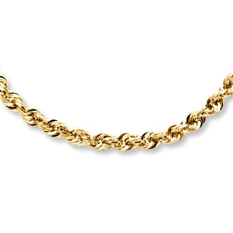 rope necklace 14k yellow gold 22 quot length