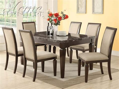 Marble Top Dining Room Sets Marceladick Com Dining Room Sets