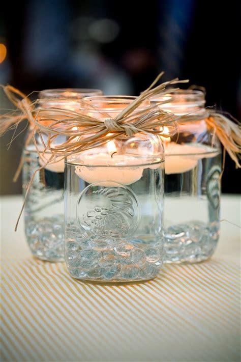 Bathroom Napkin Holder Mason Jar Centerpieces Floating Candles Emmaline Bride