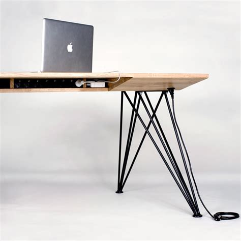 a minimalist desk that hides all your cords design milk simple cord management solutions that can make life easier