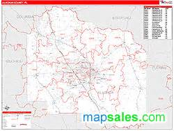 gainesville florida zip code map alachua county fl zip code wall map line style by
