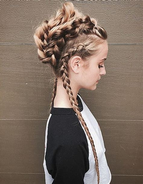 mohawk hair long in the front 30 braided mohawk styles that turn heads