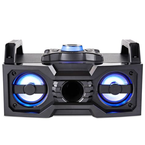 Speaker Bluetooth Voombox goodmans bluetooth led boombox speakers b m stores