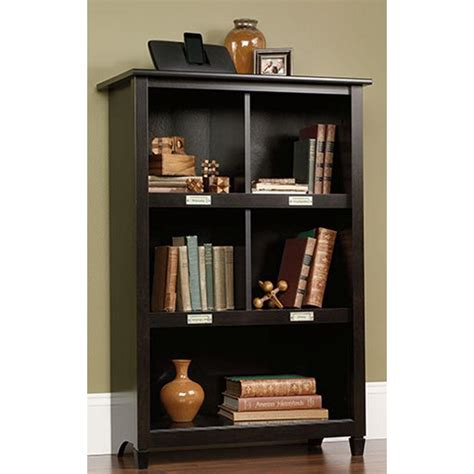 sauder black bookcase sauder black bookcase sauder edge water library wall